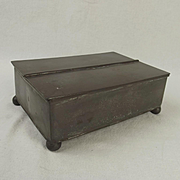 19th Century Pewter Box With Double Hinged Lid