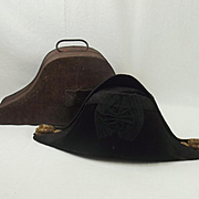 Circa 1900 Royal Naval Officers Cased Bicorn