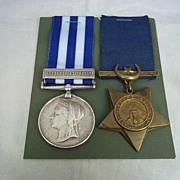 Egypt Medal & Khedives Star - Named - S.J.Godkin, HMS Invincible