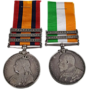 Queen & Kings South Africa Medals - Named - Pte H.Howe - Somerset Light Infantry