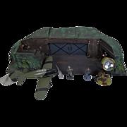 c1935 Moritz-Gottschalk Airfield Bunker HQ Set With Tipp Co. Tinplate Aircraft