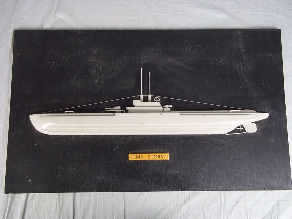 Half Hull Model of HMS Storm (P233) S-Class Submarine 1943