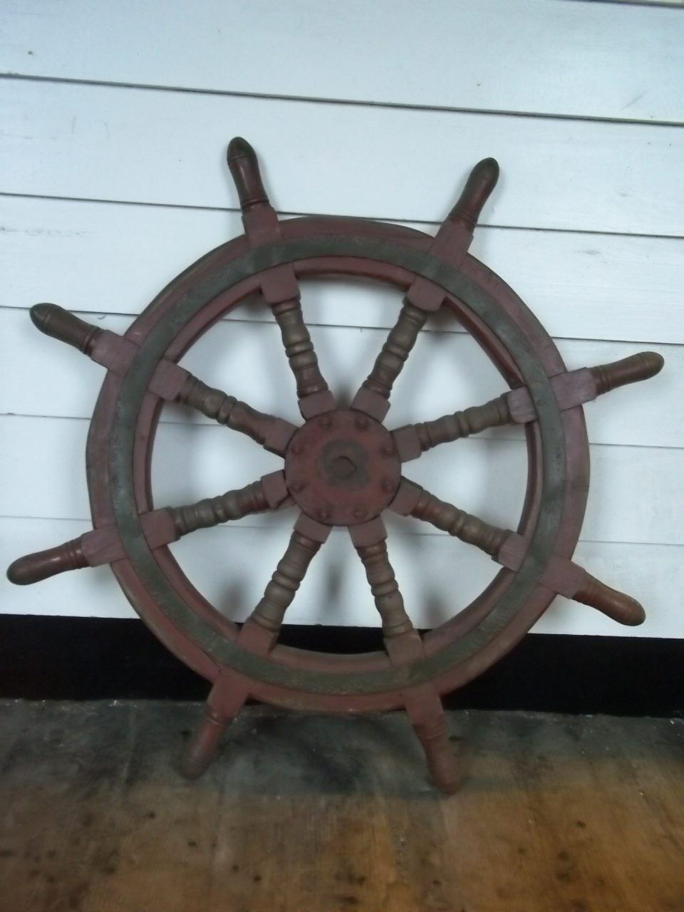 Vintage Ships Wheel From A Chinese Junk #3