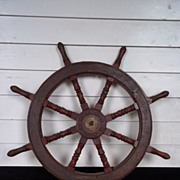 Vintage Ships Wheel From A Chinese Junk #9