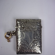 Sterling Silver Engraved Vesta Case, Birmingham 1901, 21.3g