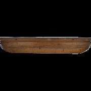 19th century Half-Model Of A Hopper Barge.