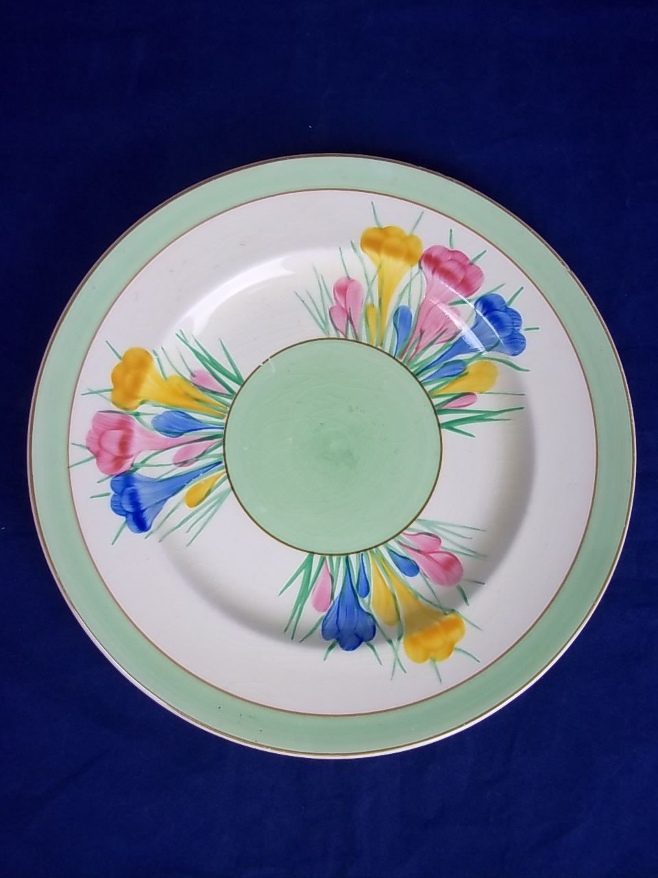 "Clarice Cliff Royal Staffordshire ""Crocus"" Side Plate"