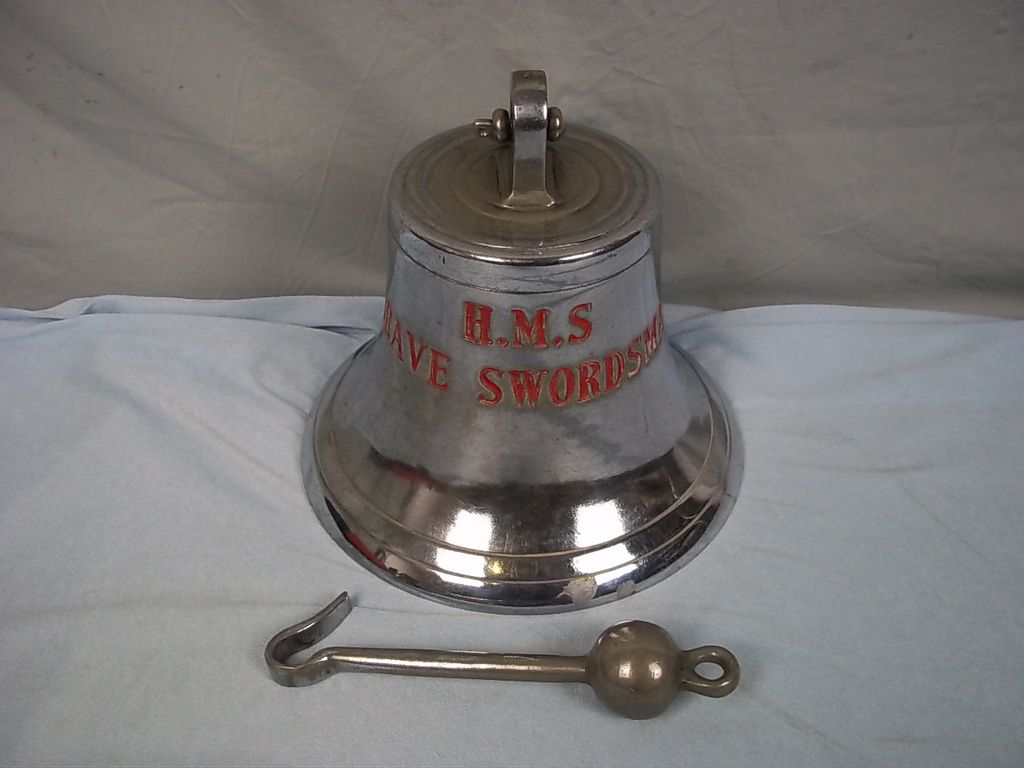 c1958 Ships Bell From HMS Brave Swordsman (P1012)