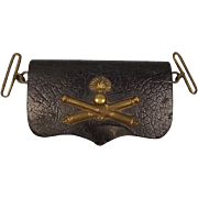 Late 19th Century French Artillery Officers Cross Belt Pouch