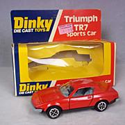 Vintage 1975 Dinky Toys No. 211 Triumph TR7 Sports Car, Boxed