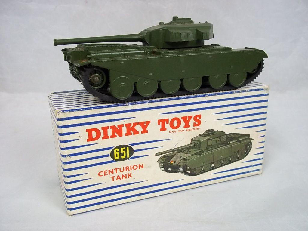 Dinky Toys 651 Centurion Tank With Original Box The