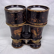 A Pair Of Victorian Black Finished Binoculars By Frodsham & Keen, Liverpool
