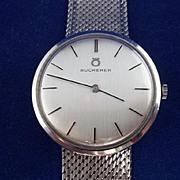 18 Carat Bucherer White Gold Watch
