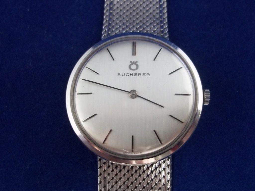 18 Carat Bucherer White Gold Watch