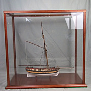 Cased Model of HMS Sherbourne 8 Gun Royal Navy Cutter 1763 1:64 Scale