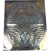 A Large Copper Wall Plaque For HMS Howe 1940