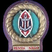 A cast aluminium badge For The Kenya Navy