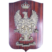 A Heavy Cast Brass Badge For The Spanish Cadiz Millitary Corps