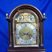 A Fine Oak Cased Striking Mantle Clock By Winterhalder And Hofmeier Germany Circa 1880