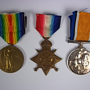 WW1 1914/15 Medal Trio Awarded to Pte F.G.Eady Royal Fusiliers