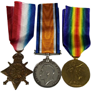WW1 Medal Trio Awarded to PTE.W.V. Taylor. Yorkshire Light Infantry