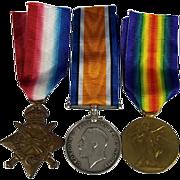 WW1 Medal Trio Awarded to PTE.W.V. Taylor. Yorkshire Light Infantry