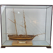 Cased Model Of The French Ketch Warship 'Le Hussard' (1848) 1:50 Scale by J H Gibbens