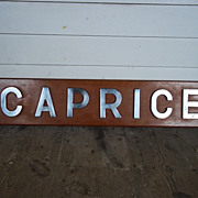 The Nameboard Of HMS Caprice, Royal Navy 1942 Destroyer
