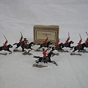 "c1900/20 ""Life Guards 1 15"" Vintage Tin/Lead Flats 10 Pieces. Boxed"