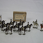 c1900/20 Wurttemberg Rifles on Horse Vintage Tin Flats 10 Pieces. Boxed