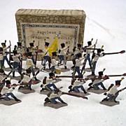 "c1900/20 ""Austro-Hungarian Infantry"""" Vintage Tin Flats 21 Pieces. Boxed"