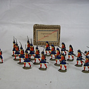 c1900/20 Highlanders Storming Vintage Tin Flats 20 Pieces. Boxed