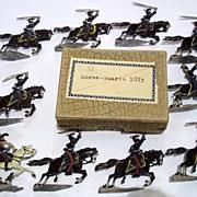 "c1900/20 ""Horse Guards 1815"" Vintage Tin Flats 10 Pieces. Boxed"