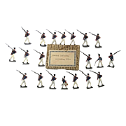 """c1900/20 """"French Infantry Marching 1814"""" Vintage Tin Flats 20 Pieces. Boxed"""