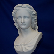 19th Century Parian Bust Of Shakespeare's 'Miranda', W C Marshall R.A. S.C. Crystal Palace Art Union