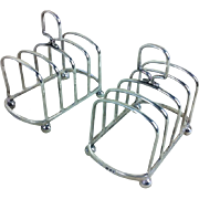 Pair of Silver 4 Slice Toast Racks London 1931, 162g