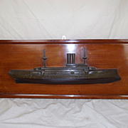Half Hull Royal Navy c1900 Canopus Class First Class Battleship  Model