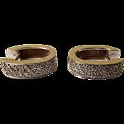 Arabic 18Ct White Gold &  Diamond Hinged Hoop Earrings Insurance Valuation £1700