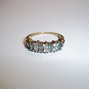 9 Ct Gold 0.6 CTW Jadeite & 0.3 CTW Zircon Ring, UK Size L (US 6)