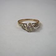 9 Ct Gold & 0.85 CTW White Tourmaline Ring, UK Size N (US 6 3/4)