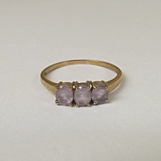 9 Ct Gold 0.75 CTW Amethyst Ring, Size S (US 9 1/4)