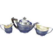 A George V Silver Three-Piece Tea Set Sheffield 1917/18 Mappin & Webb
