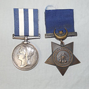Royal Marines Pte. T. Atherley Khedives Star & Egypt Medal Pair