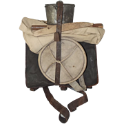 1914 French Infantry Backpack With Its Equipment