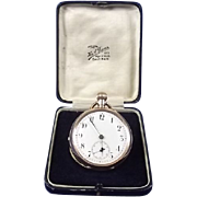 Cased American 10ct Gold Hour & Quarter Repeater Pocket Watch