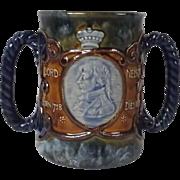Royal Doulton Stoneware Lord Nelson 1905 Trafalgar Centenary Loving Cup
