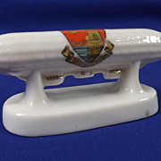 WW1 Corona Crested China Model Of An Airship Scarborough
