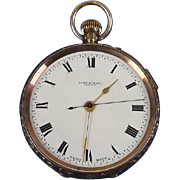 Circa 1910 9ct Gold Pocket Watch With Stopwatch By John Russel Of London