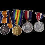 British WW1 Medals Pair Royal Engineers Dvr. Herrington 1935 Jubilee 1937 Coronation
