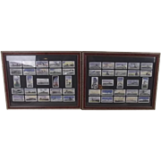 "Framed Full Set Of Original Carreras Ltd. ""OUR NAVY"" 50 Cigarette Cards 1937"